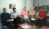 Uczestnicy warsztatów z zainteresowaniem słuchali prowadzących.
